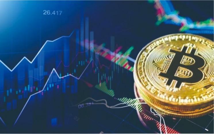 Ilustrasi perdagangan Bitcoin. - Istimewa