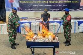 Rokok Ilegal Rp2 Miliar di Semarang Dimusnahkan