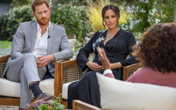 Wawancara Khusus CBS Oprah with Meghan and Harry.  - Bloomberg