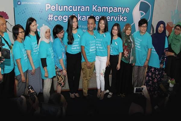 KICKS dan selebriti galang kampanye anti kanker serviks.  - Istimewa