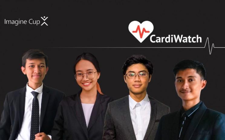Aplikasi CardiWatch dikembangkan oleh Clouddian Fazalmuttaqin, Nathasya Eliora Kristianti, Douglas Raevan Faisal, dan Adam Maulana.  - UI