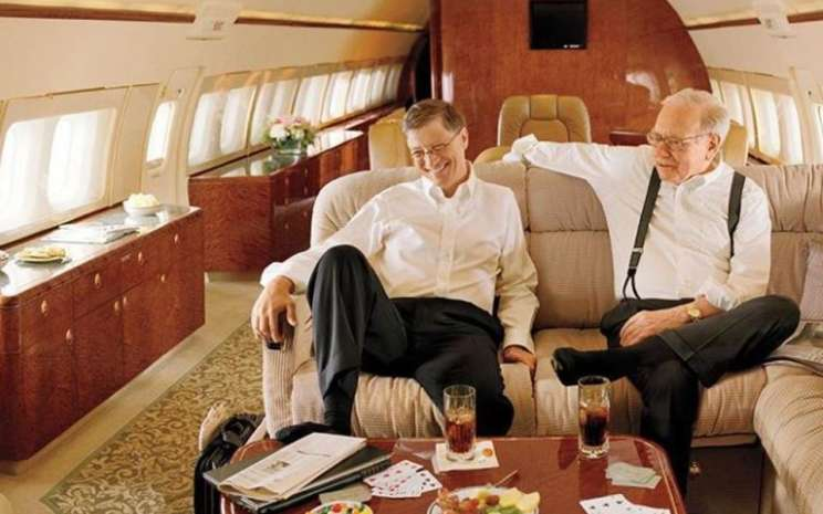 Bill Gates dan private jet
