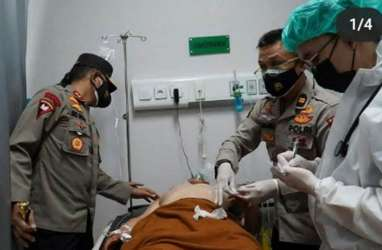 Polisi Ditikam OTK di Pos Lalu Lintas Palembang