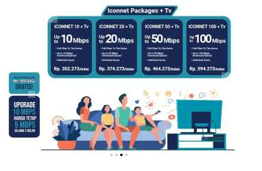 Iconnet PLN Unlimited Mulai Rp185.000, Cek Area Jangkauannya