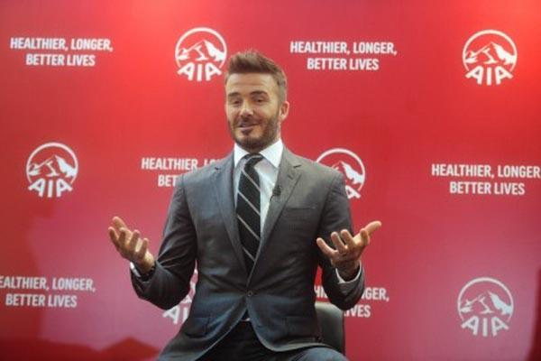 David Beckham saat berada di Jakarta dan memberi keterangan pers pada Senin (26/3/2018). - Antara/Akbar Nugroho Gumay