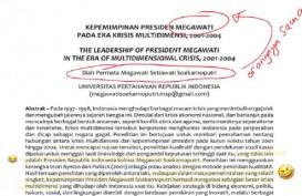 Disebut Puji Diri, Ini Cuplikan Tulisan Ilmiah Megawati Klaim Sukses Atasi Krisis