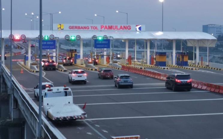 Gerbang Tol Pamulang di Jalan Tol Serpong-Cinere. - Jasa Marga