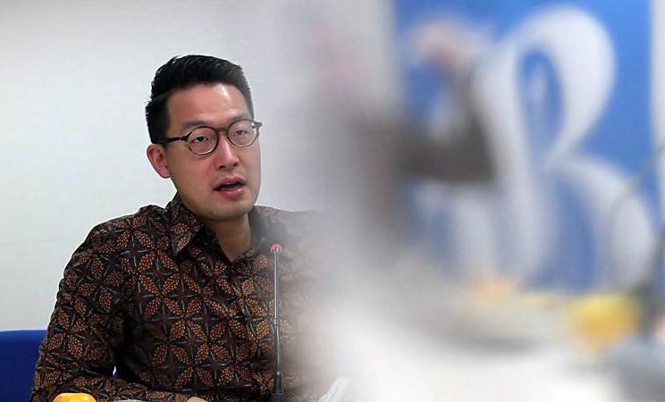 CEO Lippo Karawaci John Riady saat berkunjung ke kantor Bisnis Indonesia, di Jakarta, Selasa (19/3/2019). - Bisnis/Endang Muchtar