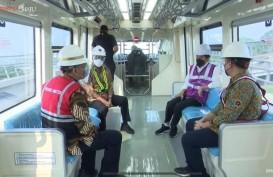 Jajal LRT Jabodebek, Jokowi: Keretanya Halus dan Nyaman Sekali