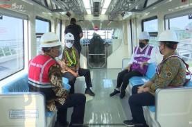 Jajal LRT Jabodebek, Jokowi: Keretanya Halus dan Nyaman…