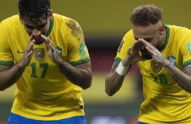 Hasil Pra-Piala Dunia : Brasil Teruskan Sapu Bersih, Argentina Imbang