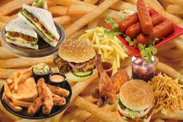 Makanan cepat saji - Ilustrasi