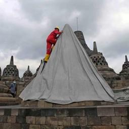 Aman Dari Ancaman Erupsi Merapi, Penutup Candi Borobudur Kembali Dibuka