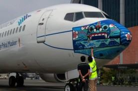 Garuda (GIAA) Cuma Terbangkan 53 Unit Pesawat