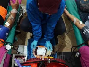 Komunitas Gowes Lakukan Donor Darah Pada Hari Donor Darah Sedunia