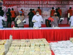 Polda Metro Jaya Gagalkan Penyelundupan Sabu Seberat 1,129 Ton Jaringan Internasional