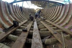 Pembuatan Kapal Penisi di Bulukamba