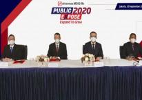 Sinarmas MSIG Life Public Expose 2020. Jajaran Direksi dari kiri ke kanan Gideon (Direktur), Shinichiro Suzuki (Wakil Presiden Direktur), Wianto Chen (Presiden Direktur), Herman Sulistyo (Direktur). /Dokumen Humas Sinarmas MSIG