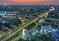 Proyek jalan tol layang AP Pettarani ini dioperasikan oleh PT Bosowa Marga Nusantara, dengan kontraktor pelaksana konstruksi adalah PT Wijaya Karya Beton. /Nusantara Infrastruktur