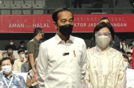 Jokowi Tinjau Vaksinasi Covid-19 10.000 Pelaku Sektor…