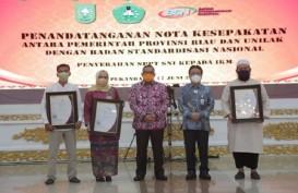 Industri Kecil Menengah di Riau Raih Sertifikat SNI