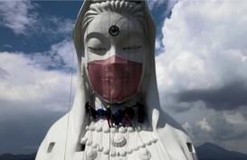 Lawan Covid-19, Patung Budha Raksasa di Jepang Pakai Masker
