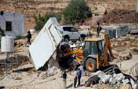 Pasukan Israel Bongkar 8 Bangunan di Hebron