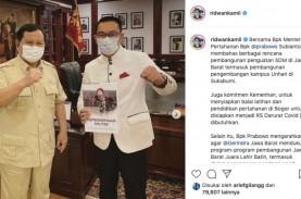 Gubernur Ridwan Kamil Temui Menhan Prabowo Subianto,…