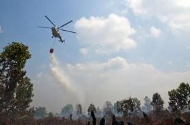 Atasi Karhutla, BPBD Riau Terbangkan 2 Helikopter…