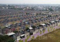 Foto udara komplek perumahan di kawasan Gading Serpong, Kelapa Dua, Tangerang, Banten, Jumat (11/6/2021). Bisnis/Abdullah Azzam