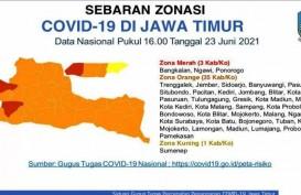 Tiga Daerah Jatim Zona Merah, Ngawi, Ponorogo dan Bangkalan
