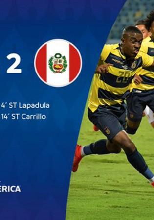 Hasil Copa America : Ekuador Gagal Pertahankan Keunggulan, 2–2 vs Peru