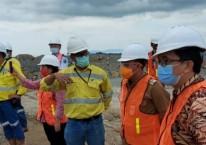 Rombongan Pemda Minahasa Utara meninjau proses TSF (Tailing Storage Facility) di lokasi tambang Archi Indonesia di Toka Tindung./Antara -HO.