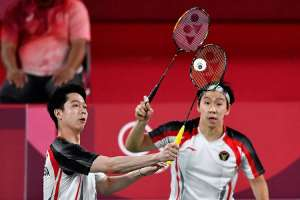 Ganda Putra Nomor Satu Dunia Kevin Sanjaya/Marcus Fernaldi Gideon Kalah di Perempat Final Olimpiade Tokyo 2020