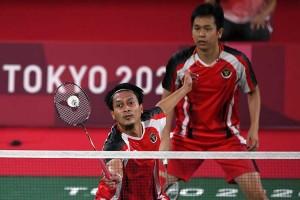 Ganda putra Indonesia Mohammad Ahsan/Hendra Setiawan Melaju ke Semi Final Olimpiade Tokyo 2020