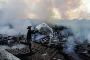 Puluhan Rumah di Palangkaraya HangusTerbakar