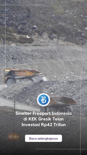 Smelter Freeport Indonesia di KEK Gresik Telan Investasi Rp42 Triliun