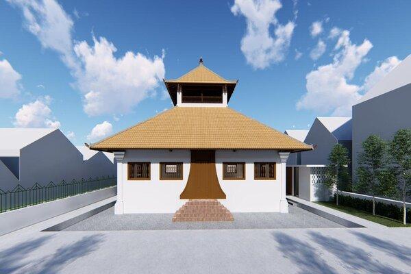 Maket 3D Masjid Al-Anwar