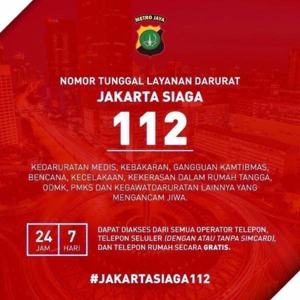 Jakarta Siaga Telepon 112 Jika Anda Memerlukan Bantuan Polisi